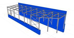 Ocelová konstrukce přístavby skladu - Kroměříž