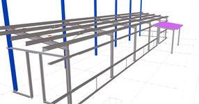 Ocelová konstrukce přístavby kantýny