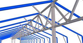 Zesílení staré ocelové konstrukce skladové haly - Klášterec nad Orlicí