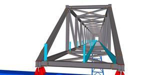 Ocelová konstrukce technologického mostu pro dopravu sypkých surovin