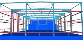 Ocelová konstrukce expediční haly