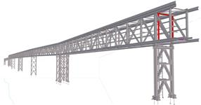 Steel structure of a technological bridge