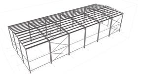 Steel structure of warehouse hall
