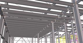 The next phase of the erection of production halls steel structure