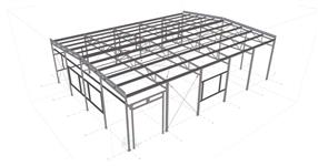 Steel structure of a production hall