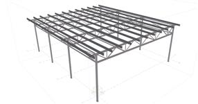 Steel structure of a canopy