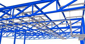 Auxiliary steel structures for a technological pipelines