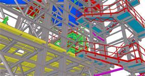 Ocelová konstrukce pro technologii distribuci popílku