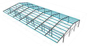 Ocelová konstrukce skladové haly s nakládací rampou