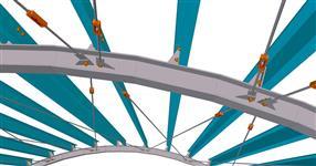 Ocelová konstrukce přístřešku pro nákladní auto
