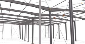 Ocelová konstrukce výrobní haly