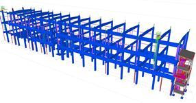 Pomocné ocelové konstrukce pro železobetonový skelet