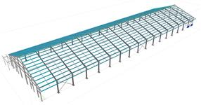 Ocelová konstrukce haly pro ustájení dobytka