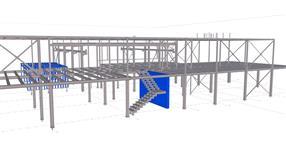 Ocelová konstrukce administrativní budovy s výrobní dílnou