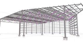 Ocelová konstrukce skladové haly hotových produktů