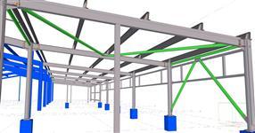Ocelová konstrukce přístavby skladové haly
