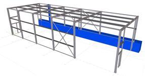 Ocelová konstrukce zastřešení vlečky příjmu sypkých surovin