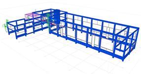 Pomocné ocelové konstrukce železobetonového skeletu výrobní provozovny