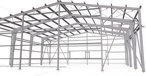 Ocelová konstrukce skladové haly pro zeleninu
