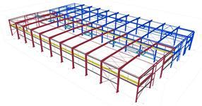 Ocelová konstrukce přístavby výrobní haly