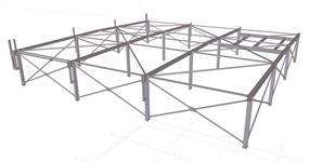 Ocelová konstrukce střešní nástavby pro instalaci technologického zařízení