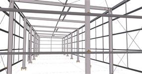 Ocelová konstrukce haly skladu