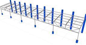 Ocelová konstrukce přístřešku ke stávající železobetonové hale