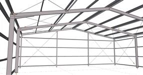 Ocelová konstrukce skladové haly