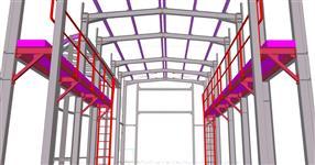 Ocelová konstrukce haly pro mytí nákladních aut