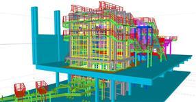Ocelové konstrukce fixace částí sklářských pecí a konstrukce pro obsluhu provozu