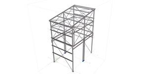 Ocelová konstrukce věže pro příjem sypkých surovin