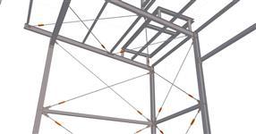 Ocelová konstrukce budovy probozu vodního hospodářství