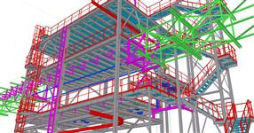 Ocelová konstrukce pro technologii destilace a odvodnění lihu