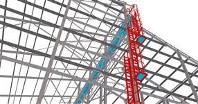 Ocelová konstrukce haly pro ustájení dojnic