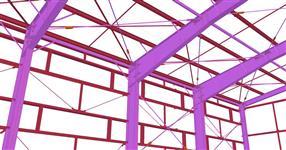 Ocelová konstrukce přístavby skladové haly papírny