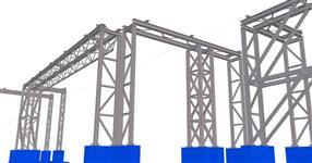 Ocelová konstrukce technologického potrubního mostu rafinerie délky 685m