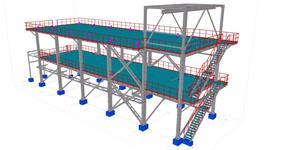 Ocelová konstrukce technologického zařízení rafinerie