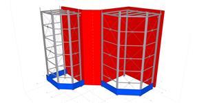 Ocelová konstrukce přístavby u haly reaktorů