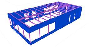 Ocelová konstrukce prodejny