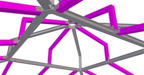 Ocelová konstrukce zastřešení odpočívárny sportoviště