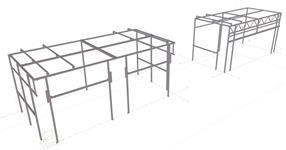 Ocelová konstrukce pro lakovací boxy