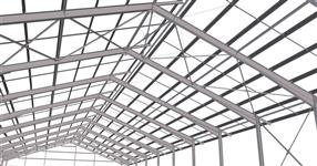 Ocelová konstrukce haly pro ustájení jalovic