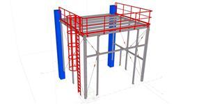 Ocelová konstrukce vestavěné technologické plošiny