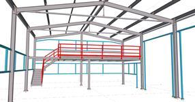 Ocelová konstrukce haly garáží obecního vozového parku
