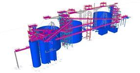 Ocelové konstrukce technologické výrobní jednotky a dopravníkových mostů