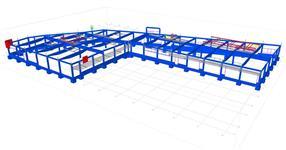 Pomocné ocelové konstrukce pro železobetonový skelet supermarketu