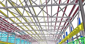 Ocelová konstrukce výrobní haly s jeřábovou dráhou