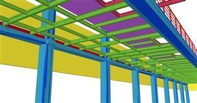 Ocelová konstrukce obslužné plošiny