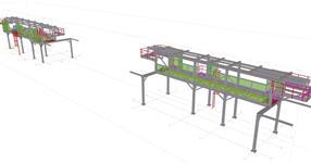 Ocelová konstrukce rpo technologickou linku v automobilovém průmyslu