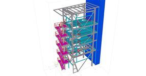 Ocelová konstrukce pro technologii v chemickém průmyslu